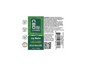 CBD Lip Balm - Natural 50mg