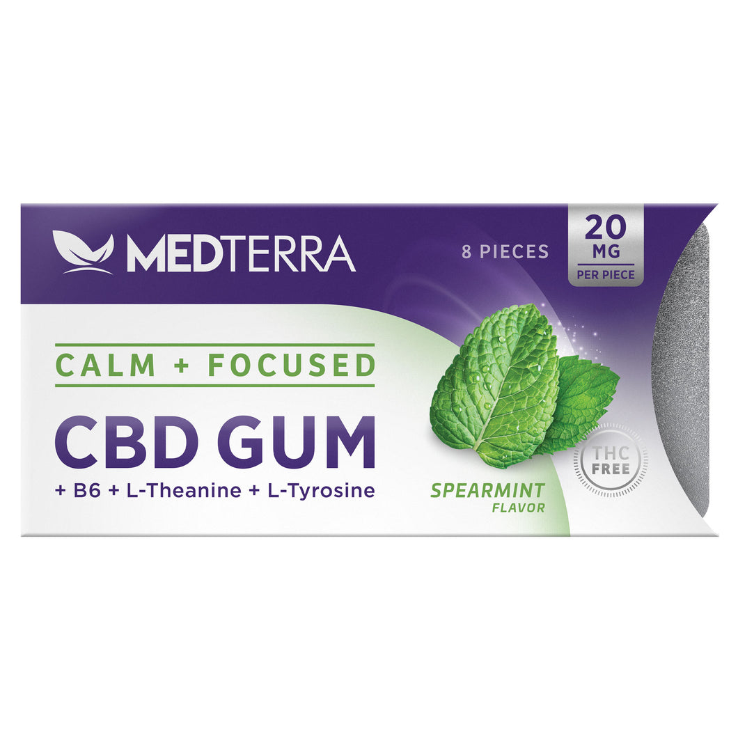 CBD Gum Calm + Focus Spearmint