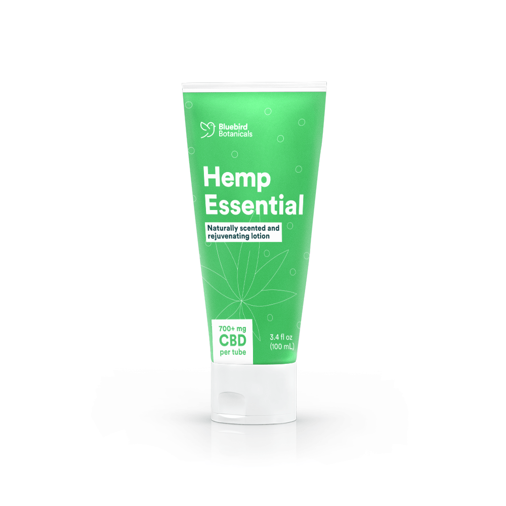 Bluebird Botanicals Hemp Essential CBD Lotion - CBD Store Los Angeles