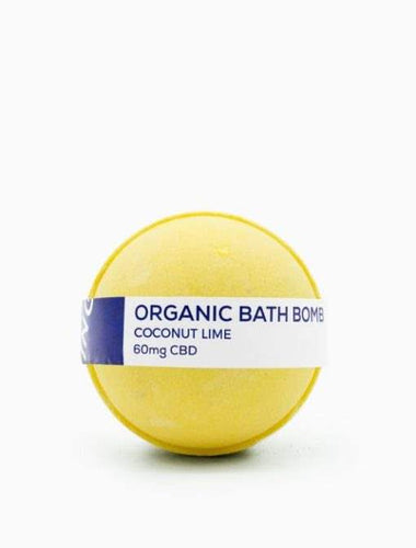 CBD Living Bath Bomb 60mg Coconut Lime - CBD Stress relief