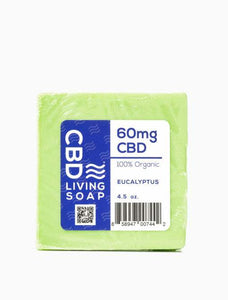 CBD Living Soap 60mg Eucalyptus - CBD Oils, Gummies, Pain Cream Miami