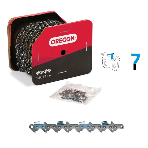 "Oregon Chainsaw Chain 21LPX .325"" .058"" 100ft Full Chisel"