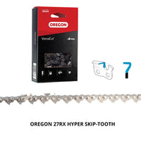 "Oregon Hyper-Skip RipCut™ Chainsaw Chain 27RX .404"" .063"" 206DL"