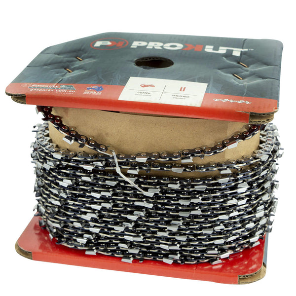 "Chainsaw Chain PROKUT 3/8"" .050"" Full Chisel 100ft Roll"