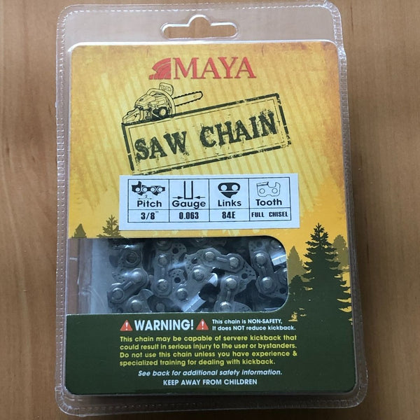 "Chainsaw Chain MAYA 3/8"" .063 84DL Full Chisel"