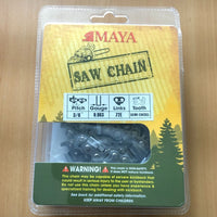 "Chainsaw Chain MAYA 3/8"" .063 72DL Semi Chisel"