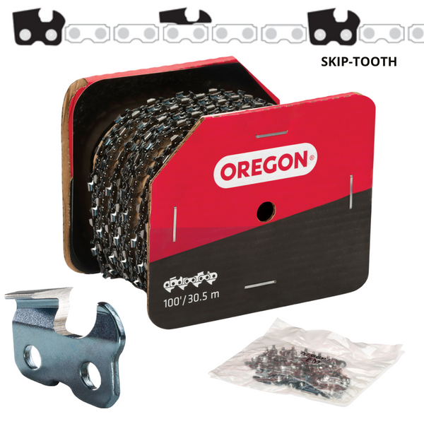 "Oregon Skip-Tooth Chainsaw Chain 73EXJ 3/8"" .058"" 100ft Full Chisel"
