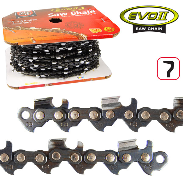 GB Forestry EVO2 Saw Chain, 3/8, .058, Semi Chisel, 25ft roll, Whites Forestry Equipment, Strzelecki Trading