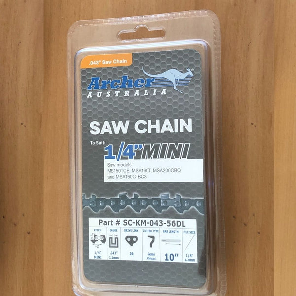 "Archer 56DL 1/4"" .043 Chain for Stihl Battery Chainsaw"