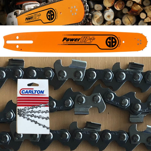 "Chainsaw Bar GB PowerTip + Carlton Chain 20"" 3/8"" .063"" 72DL"