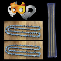 Tungsten Carbide Tipped Chainsaw Chains x 2,  3/8 .058 72DL + Diamond Files, Whites Forestry Equipment, Strzelecki Trading
