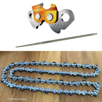 "Chainsaw Chain Tungsten Carbide, TCT Chain 18"" 3/8"" .058"" 68DL + Diamond File, Whites Forestry Equipment, Strzelecki Trading"