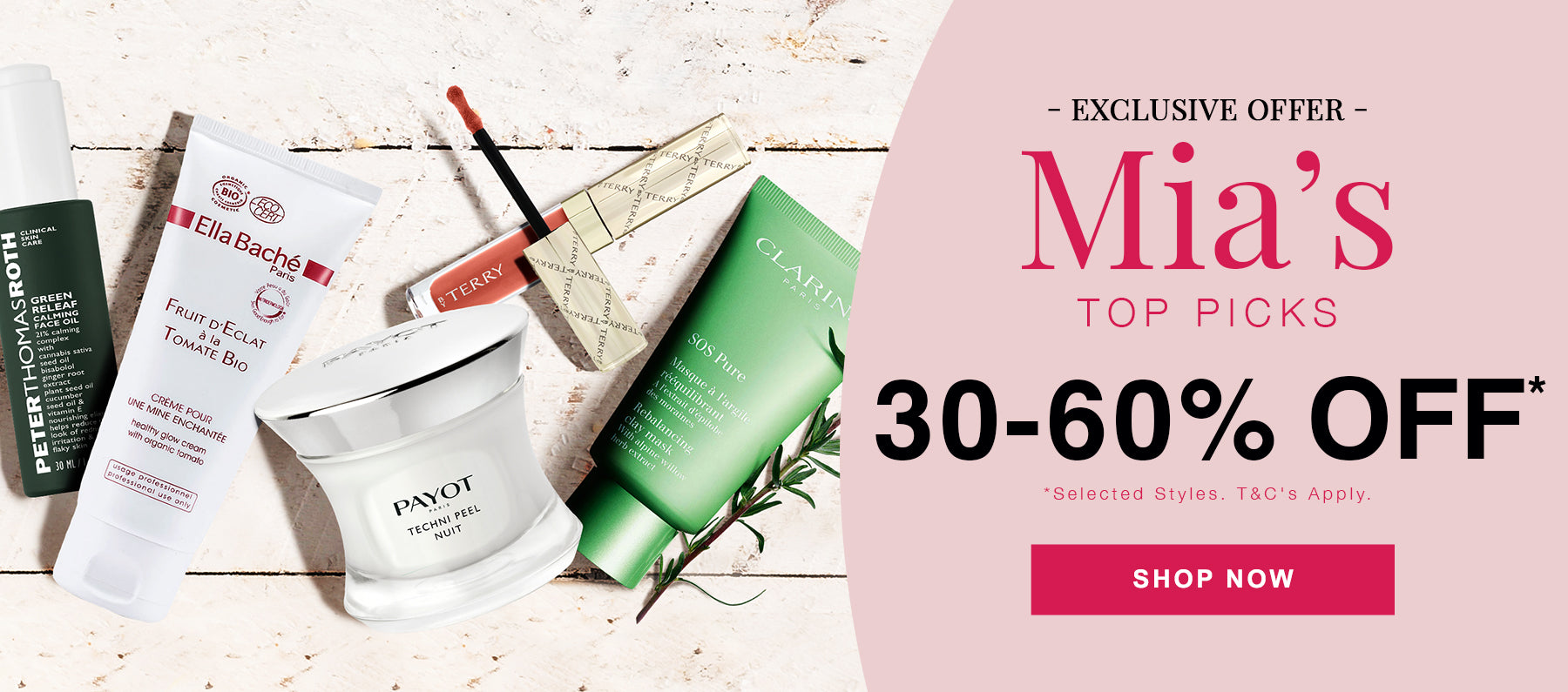 30-60% OFF SELECTED BEAUTY*