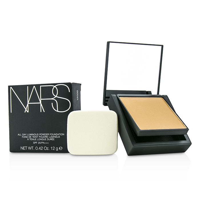 NARS All Day Luminous Powder Foundation SPF25 - Barcelona (Medium 4 Medium with golden peachy undertones) 12g