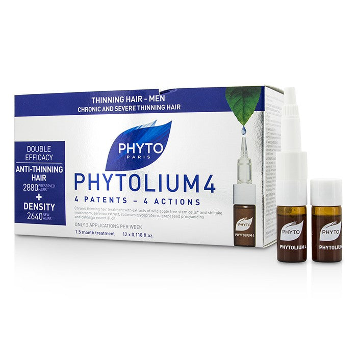 Phyto PhytoLium 4 Chronic and Severe Anti-Thinning Hair Concentrate (For Thinning Hair - Men) 12x3.5ml