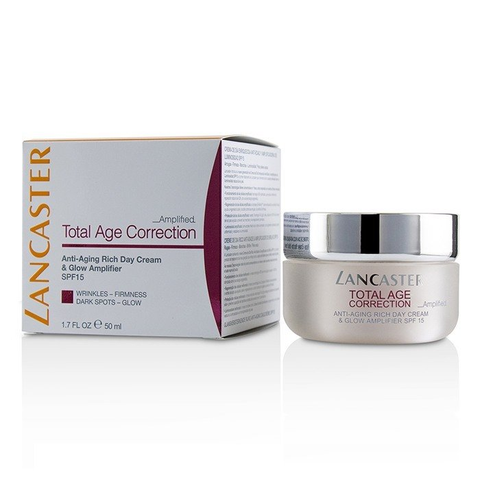 Lancaster Total Age Correction Amplified - Anti-Aging Rich Day Cream & Glow Amplifier 50ml