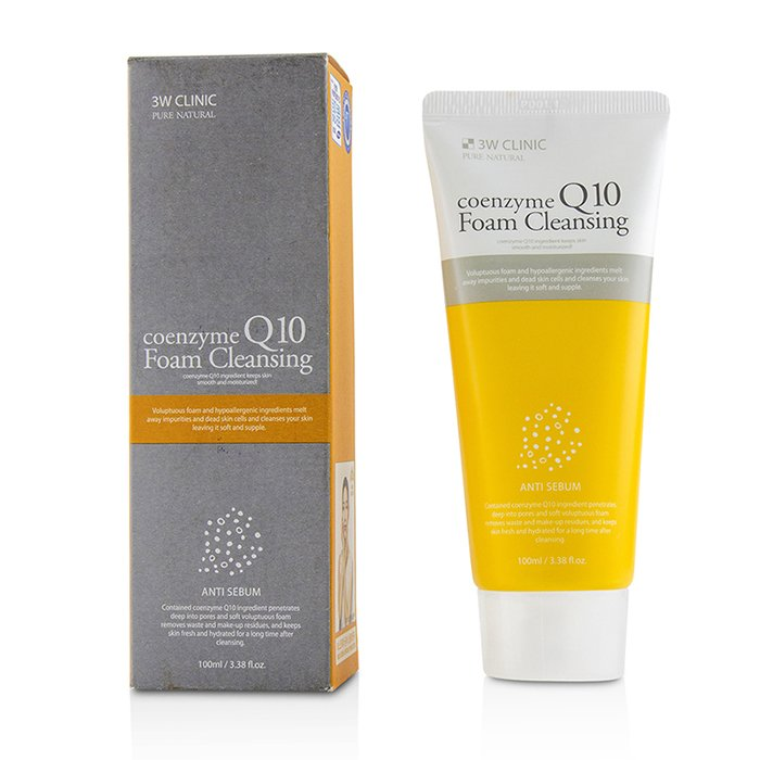 3W Clinic Coenzyme Q10 Foam Cleansing 100ml