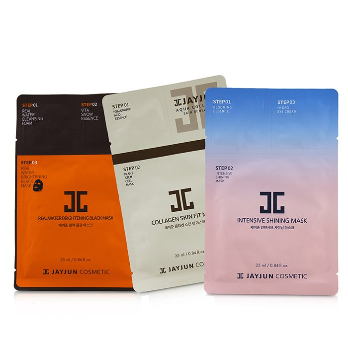 JayJun Best Seller Mask Set (2x Intensive Shining, 2x Real Water Brightening, 2x Collagen Skin) 6sheets