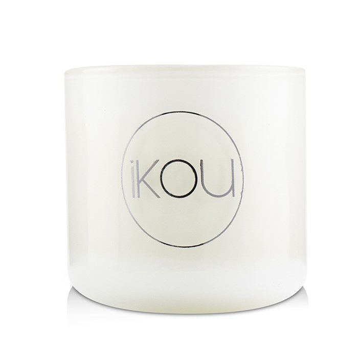iKOU Eco-Luxury Aromacology Natural Wax Candle Glass - Australian Rainforest (Lemon Myrtle & Eucalyptus) (2x2) inch