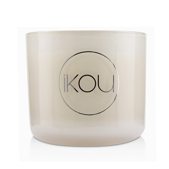 iKOU Eco-Luxury Aromacology Natural Wax Candle Glass - Joy (Australian White Flannel Flower) (2x2) inch