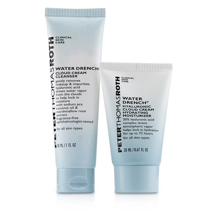 Peter Thomas Roth Hyaluronic Happy Hour 2-Piece Kit: 1x Cleanser 30ml + 1x Moisturizer 20ml 2pcs