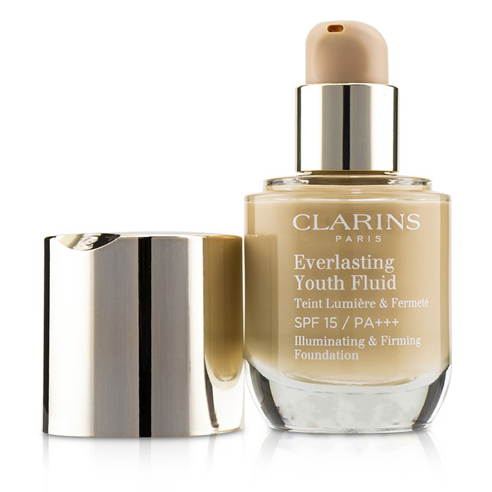 Clarins Everlasting Youth Fluid Illuminating & Firming Foundation SPF 15 - # 110 Honey 30ml