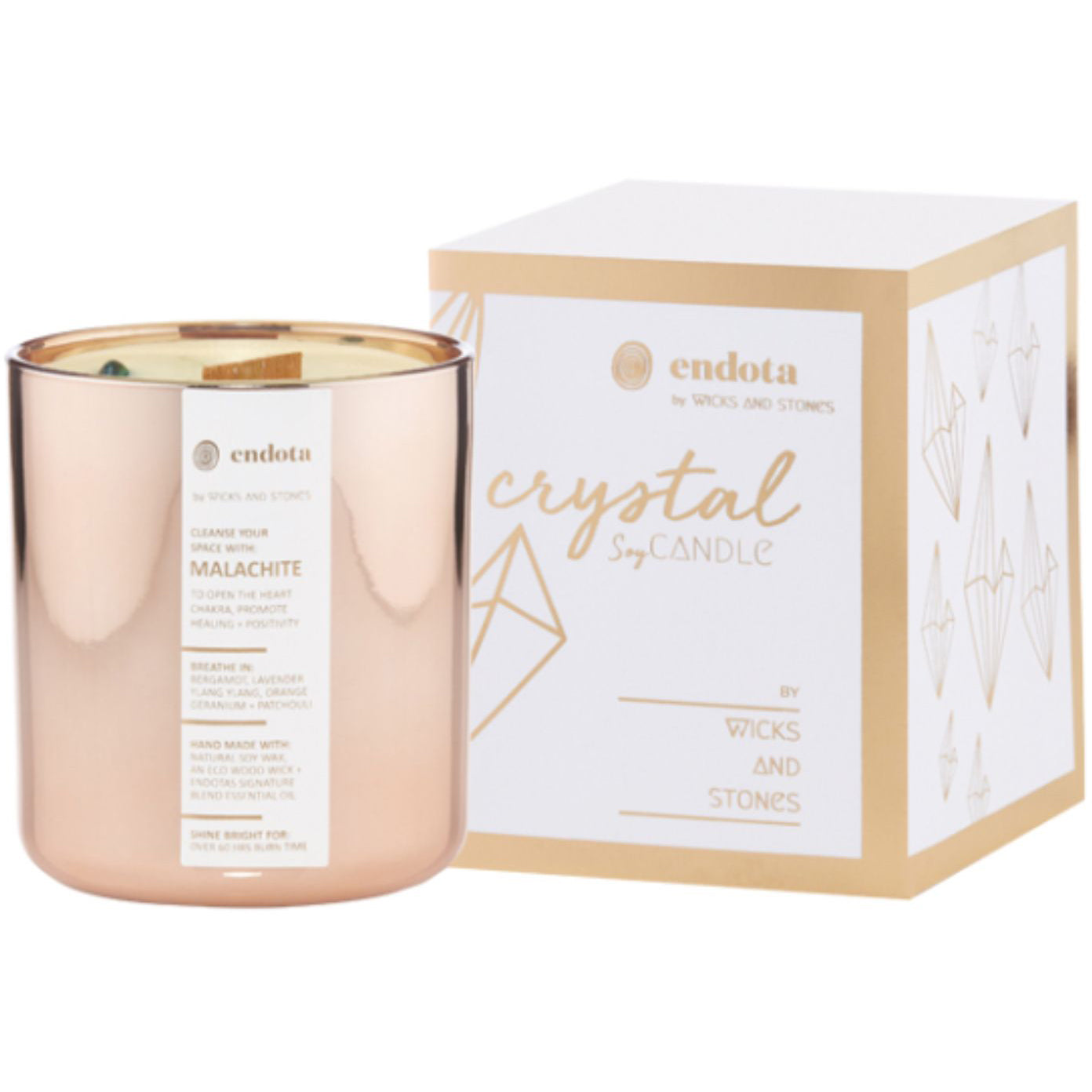 Endota Spa Wicks and Stones for endota - limited-edition candle