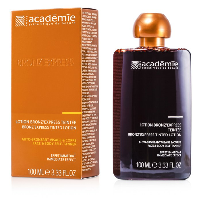 Academie Bronz' Express Face and Body Tinted Self-Tanning Lotion 100ml