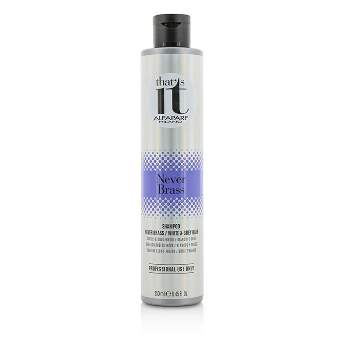 AlfaParf That's It Never Brass Shampoo (For Cool Blondes / White & Grey Hair) 250ml