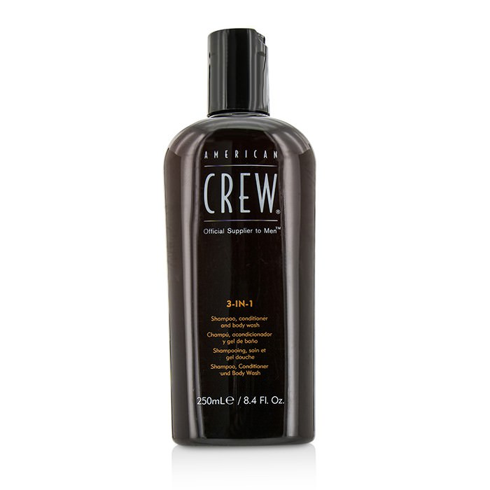 American Crew Men 3-IN-1 Shampoo, Conditioner & Body Wash 250ml
