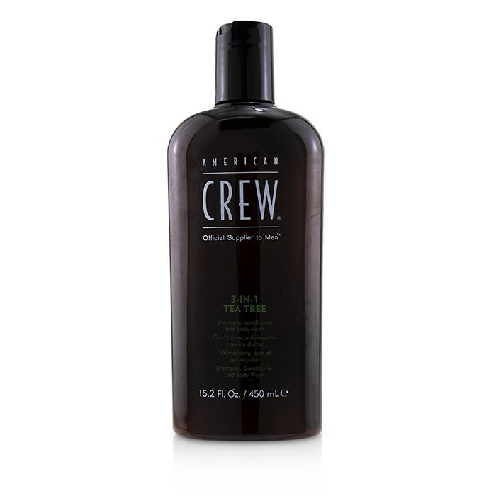 American Crew Men 3-IN-1 Tea Tree Shampoo, Conditioner and Body Wash 450ml