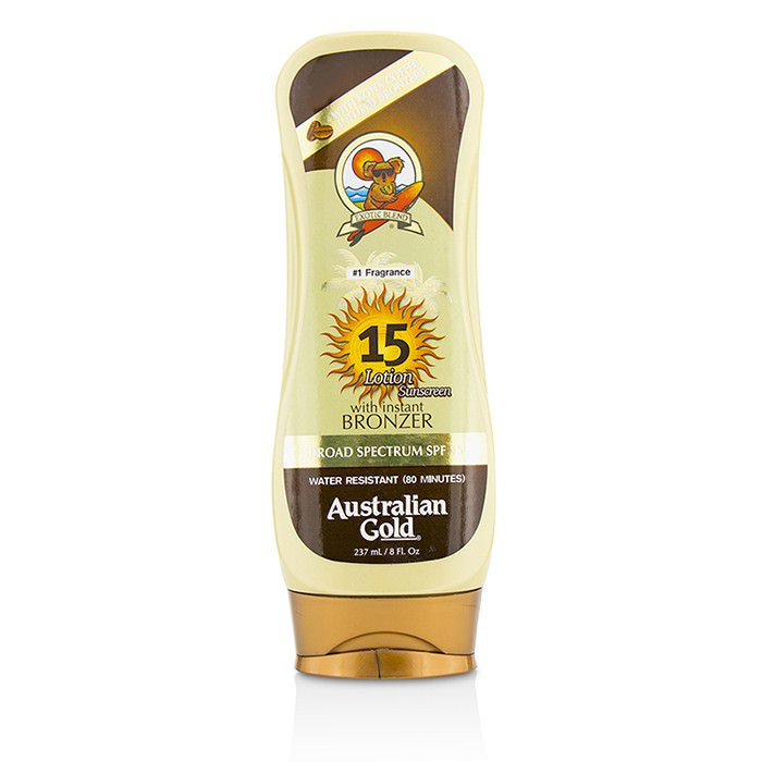 Australian Gold Lotion Suncreen With Bronzers SPF 15 237ml