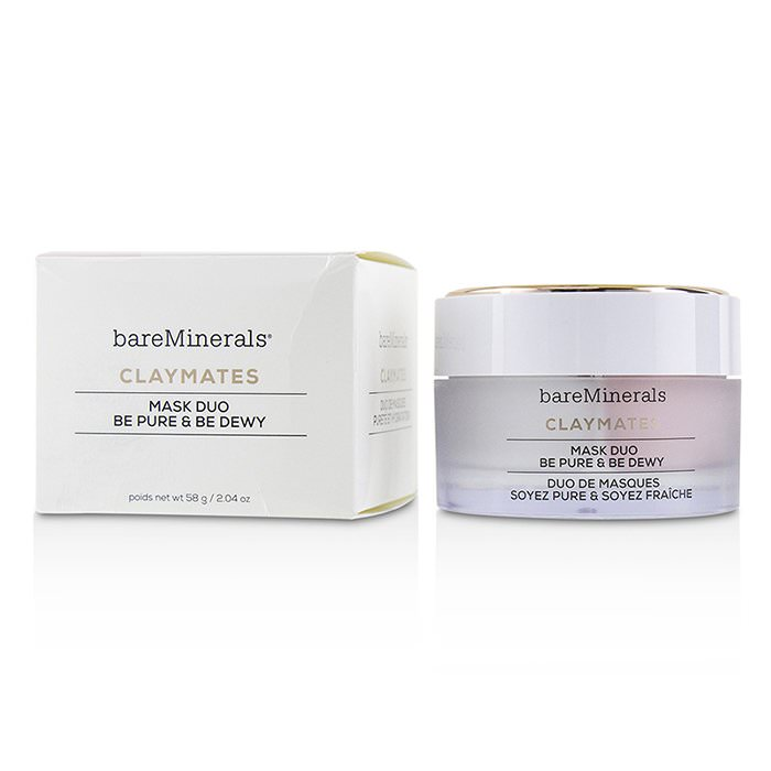 BareMinerals Claymates Be Pure & Be Dewy Mask Duo 58g