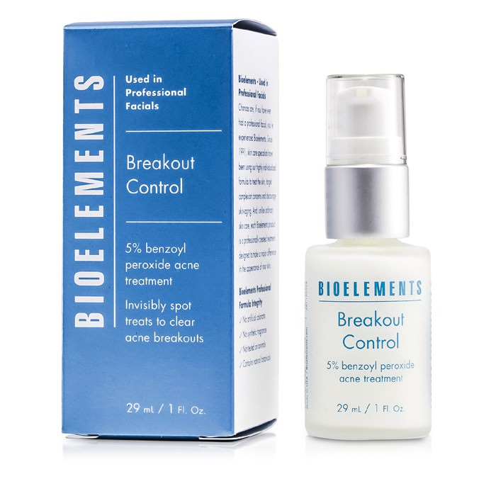 Bioelements Breakout Control - 5% Benzoyl Peroxide Acne Treatment (For Very Oily, OIly, Combination, Acne Skin Types) 29ml
