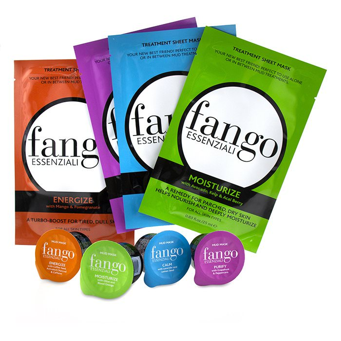 Borghese The Fango Essenziali Collection (4x Sheet Mask 25ml/0.83oz, 4x Mud Mask 25g/0.89oz)