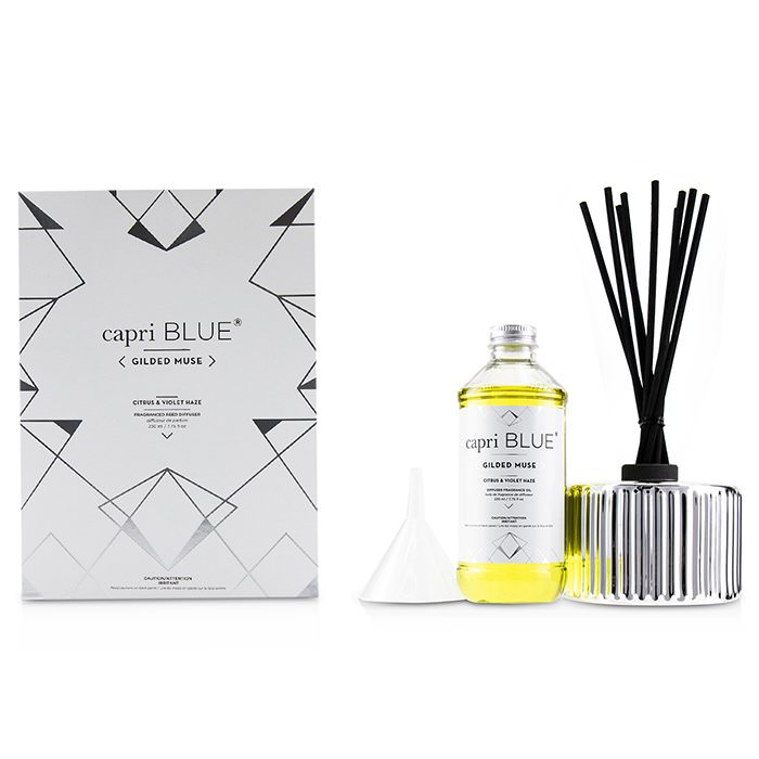 Capri Blue Gilded Muse Reed Diffuser - Citrus & Violet Haze 230ml