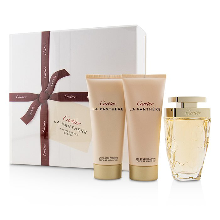 Cartier La Panthere Coffret: Eau De Parfum Legere Spray 75ml/2.5oz + Perfumed Body Lotion 100ml/3.3oz + Perfumed Shower Gel 100ml/3.3oz 3pcs