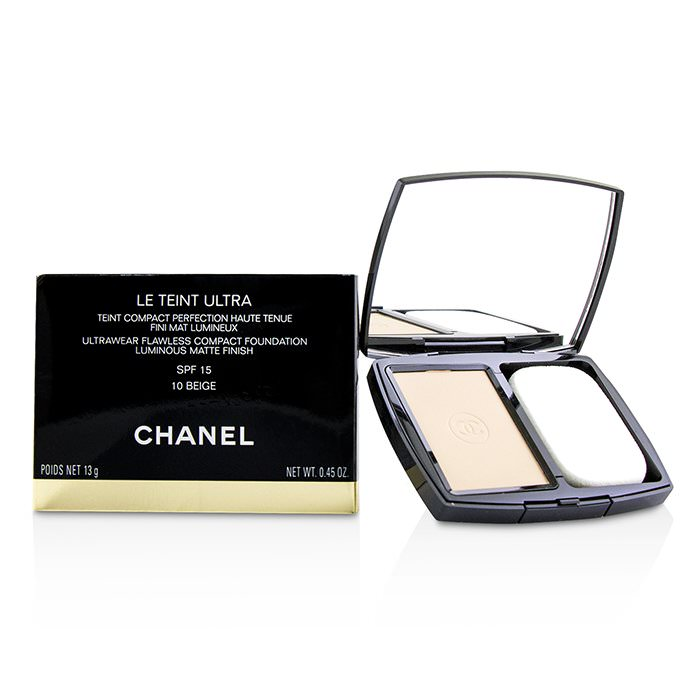 Chanel Le Teint Ultra Ultrawear Flawless Compact Foundation Luminous Matte Finish SPF15 - # 10 Beige 13g