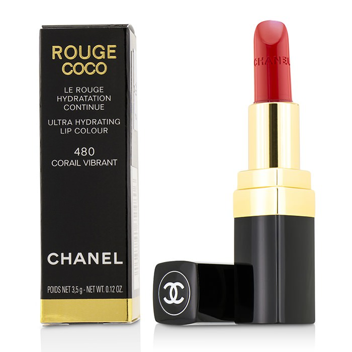Chanel Rouge Coco Ultra Hydrating Lip Colour - # 480 Corail Vibrant 3.5g