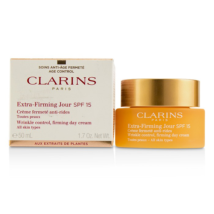 Clarins Extra-Firming Jour Wrinkle Control, Firming Day Cream SPF 15 - All Skin Types 50ml