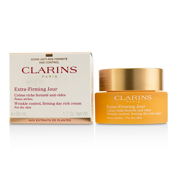 Clarins Extra-Firming Jour Wrinkle Control, Firming Day Rich Cream - For Dry Skin 50ml