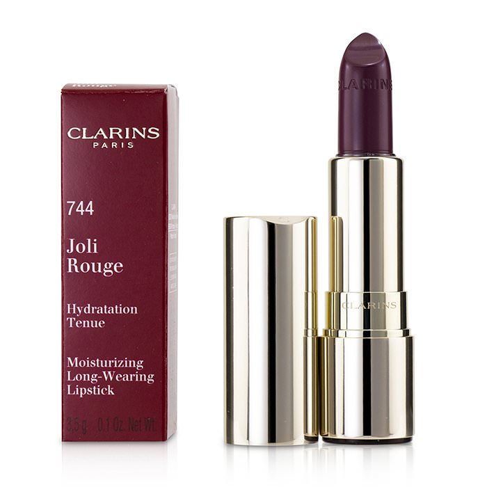 Clarins Joli Rouge (Long Wearing Moisturizing Lipstick) - # 744 Soft Plum 3.5g