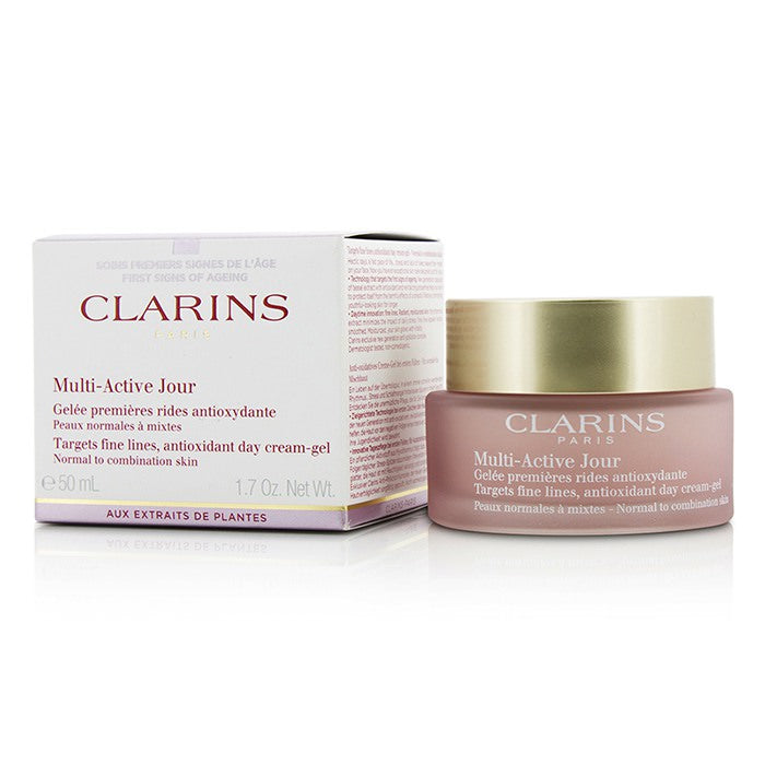 Clarins Multi-Active Day Targets Fine Lines Antioxidant Day Cream-Gel - For Normal To Combination Skin 50ml