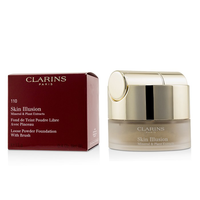 Clarins Skin Illusion Mineral & Plant Extracts Loose Powder Foundation (With Brush) (New Packaging) - # 110 Honey 13g