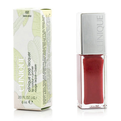 Clinique Pop Lacquer Lip Colour + Primer - # 02 Lava Pop 6ml