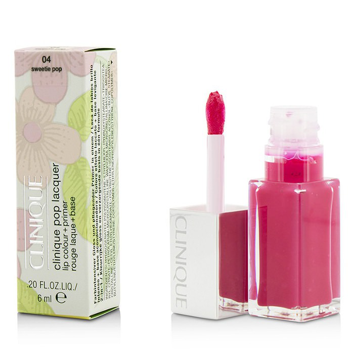 Clinique Pop Lacquer Lip Colour + Primer - # 04 Sweetie Pop 6ml