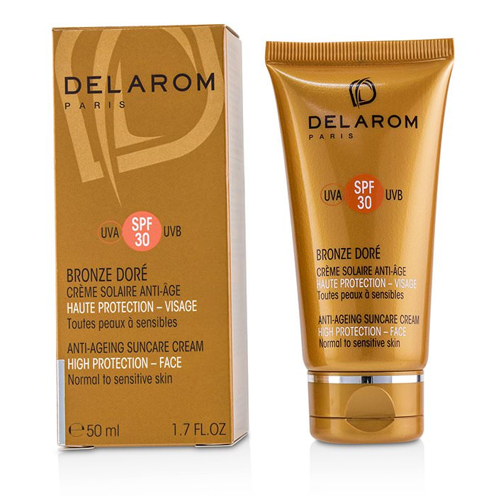 DELAROM Anti-Ageing Suncare Face Cream SPF 30 - For Normal to Sensitive Skin 50ml