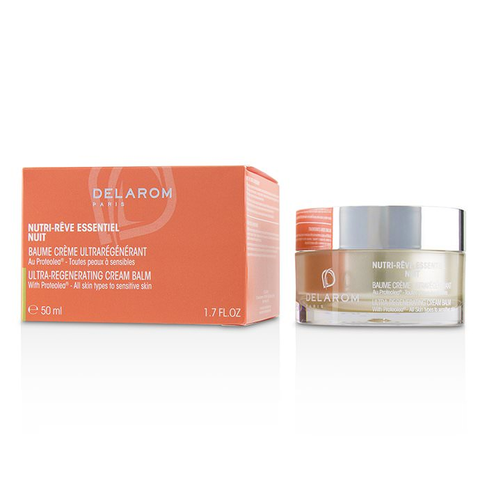 DELAROM Nutri-Reve Essentiel Nuit Ultra-Regenerating Cream Balm - For All Skin Types to Sensitive Skin 50ml