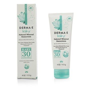 Derma E Natural Mineral Sunscreen Broad Spectrum SPF 30 - Baby 113g