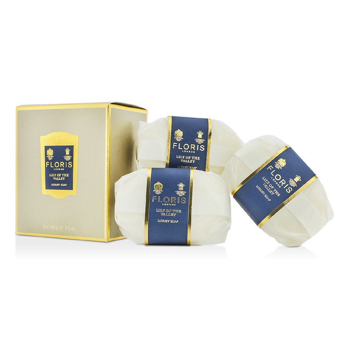 Floris Lily Of The Valley Luxury Soap 3x100g